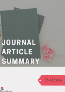journal article summary example