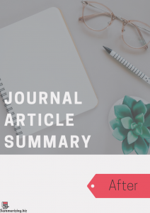 journal article summary examples