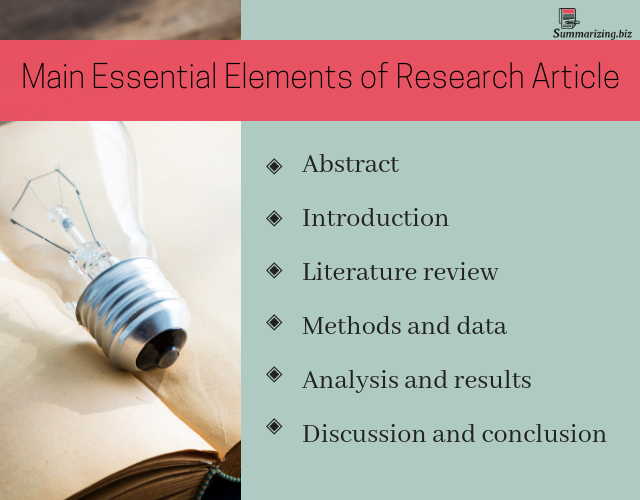 professional research article summary