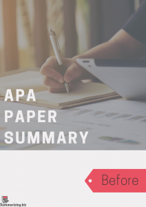 apa summary paper structure