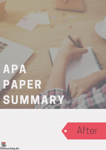 apa summary paper structure example