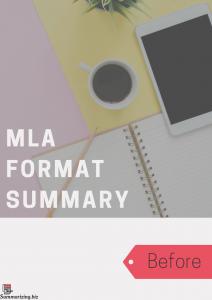 mla format summary
