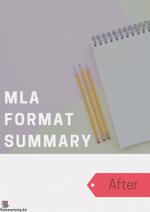 mla format summary example