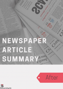 newspaper article summary examples