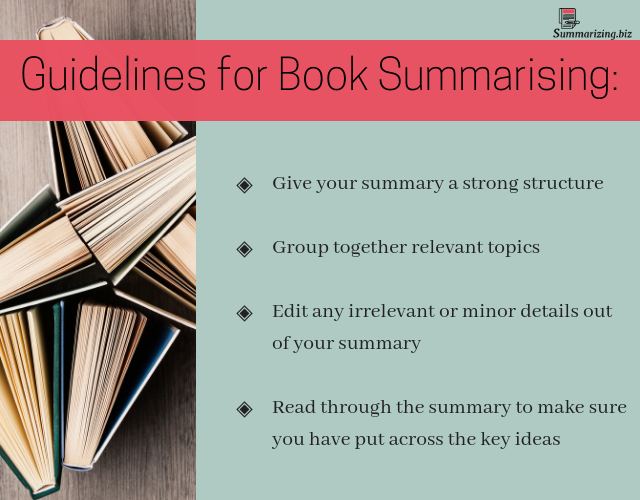 tips on how to summarize a book