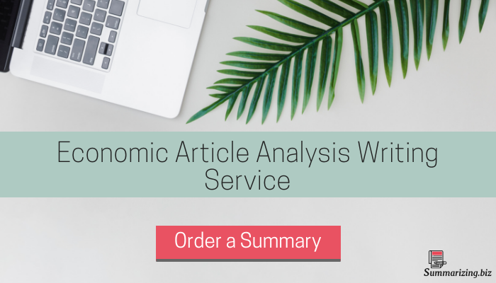 economic article analysis help