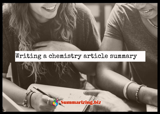 how to write a chemistry article summary