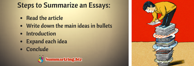 steps to summarize an essays