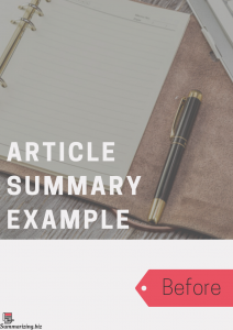 summarizing an article example