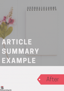 summarizing an article examples